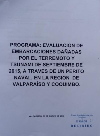 Evaluación de daños de pesqueros